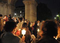 Imagine din timpul Slujbei de Înviere - 2011